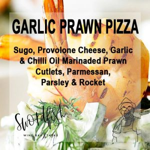 garlic prawn pizza